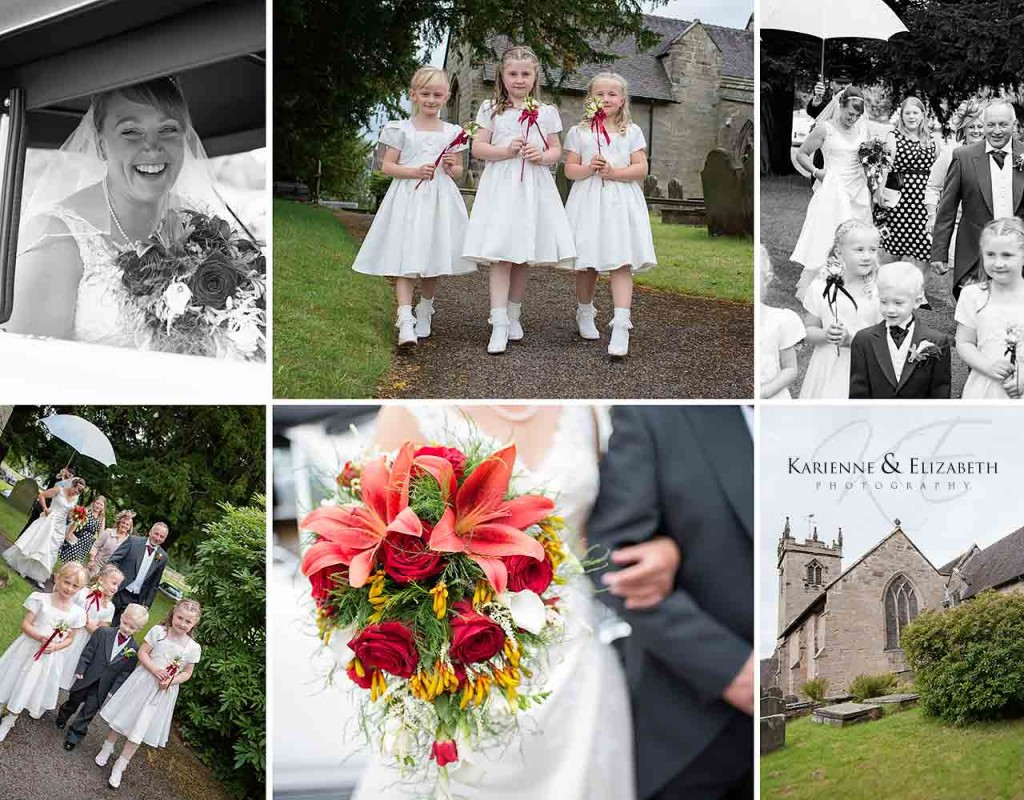 Staffordshire wedding of Amy in Darren in All Saints Church Sandon