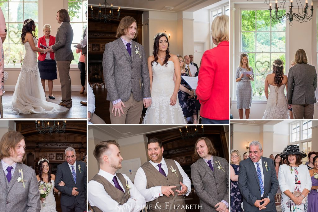 ceremony bride Yeldersley Hall Wedding Photography