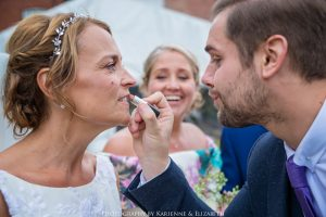 Bride and lipstick St Johns House LIchfield