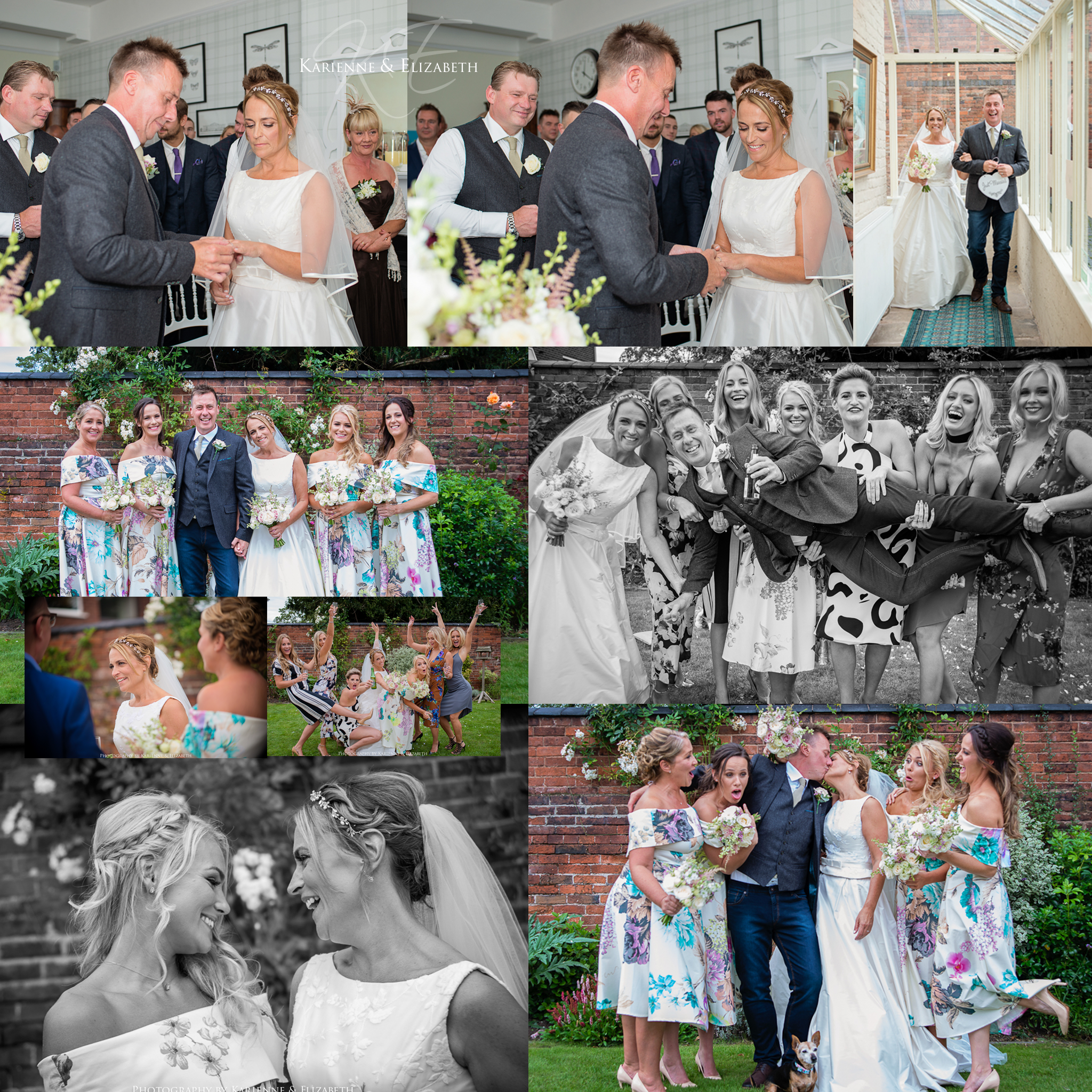 Wedding ceremony and group pictures St Johns House Lichfield