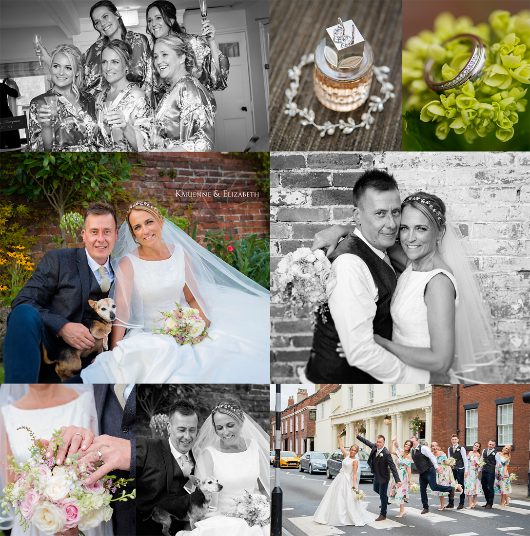 Wedding group pictures St Johns House Lichfield