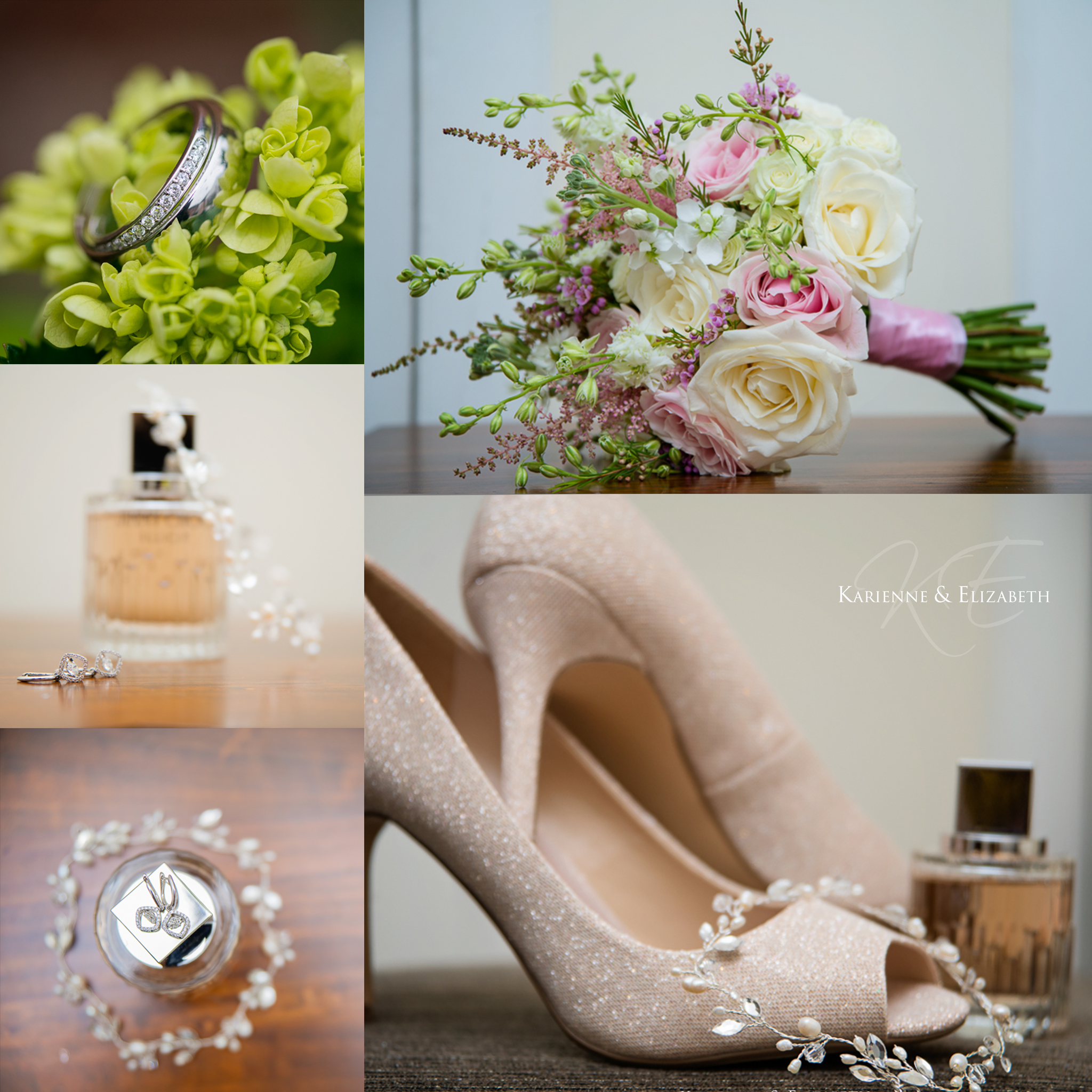 Bridal wedding details St Johns House Lichfield