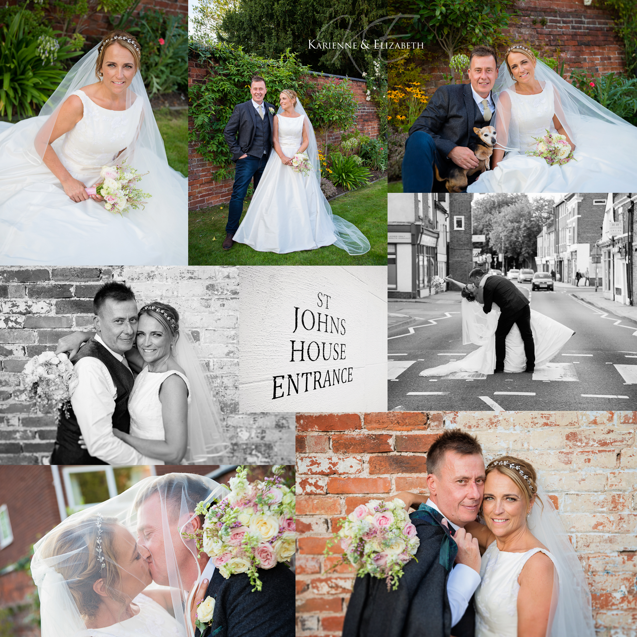 Wedding romantic pictures St Johns House Lichfield