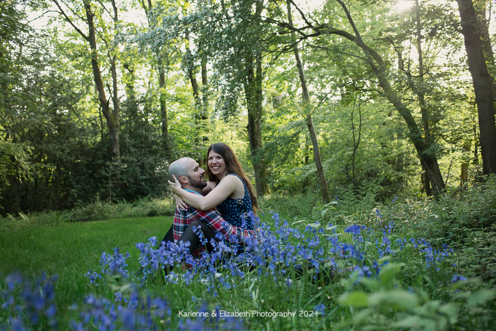 Engagement photography bluebells